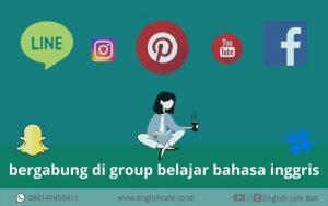 belajar bahasa inggris di group social media