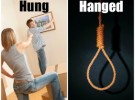 'Hanged' atau 'Hung'?