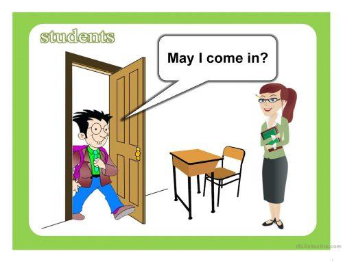 Kalimat Bahasa Inggris yang digunakan Siswa di dalam Kelas