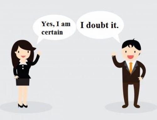 Contoh Dialog Menyatakan Kepastian dan Ketidakpastian Dalam Bahasa Inggris Beserta Artinya