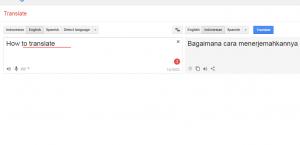 cara menerjemahkan