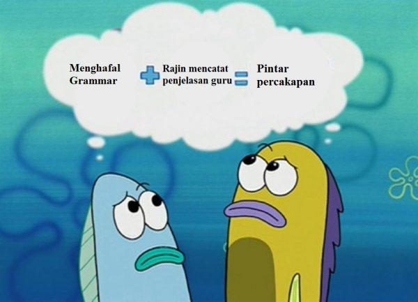 meme ikan berpikir spongebob